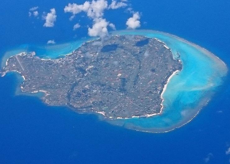 上空から与論島