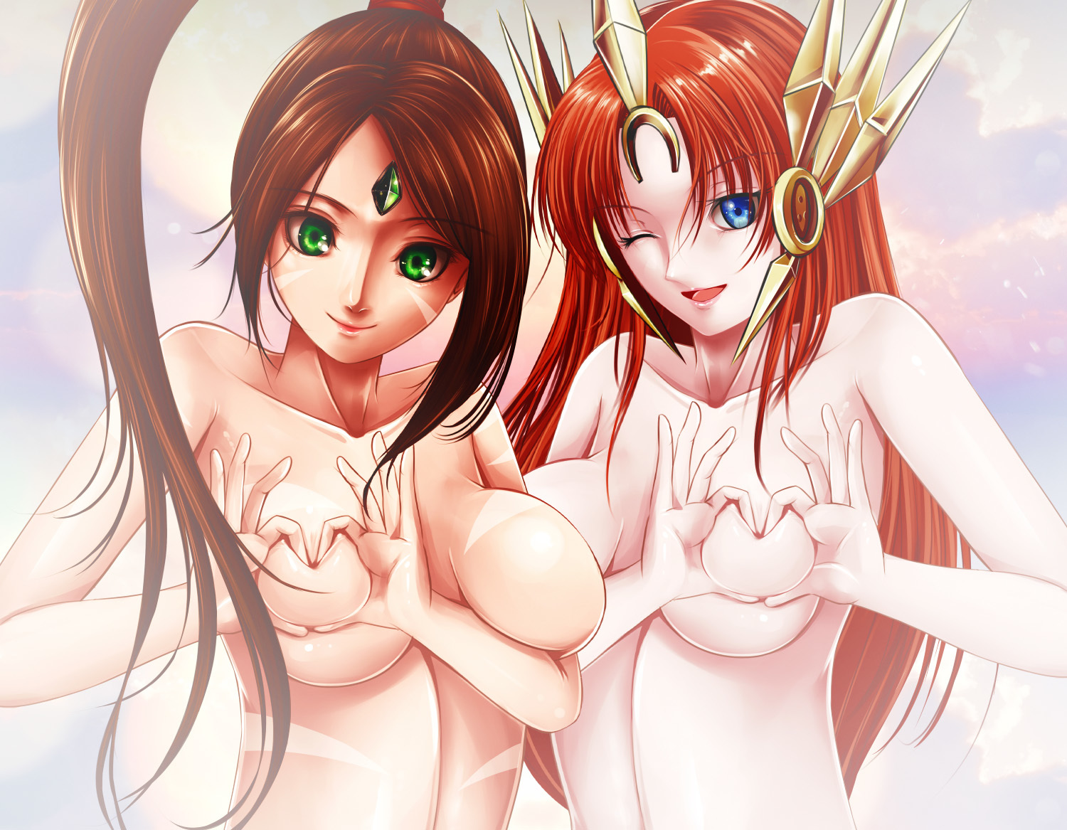 Heart Shaped Boob Challenge (LoL Leona & Nidalee)