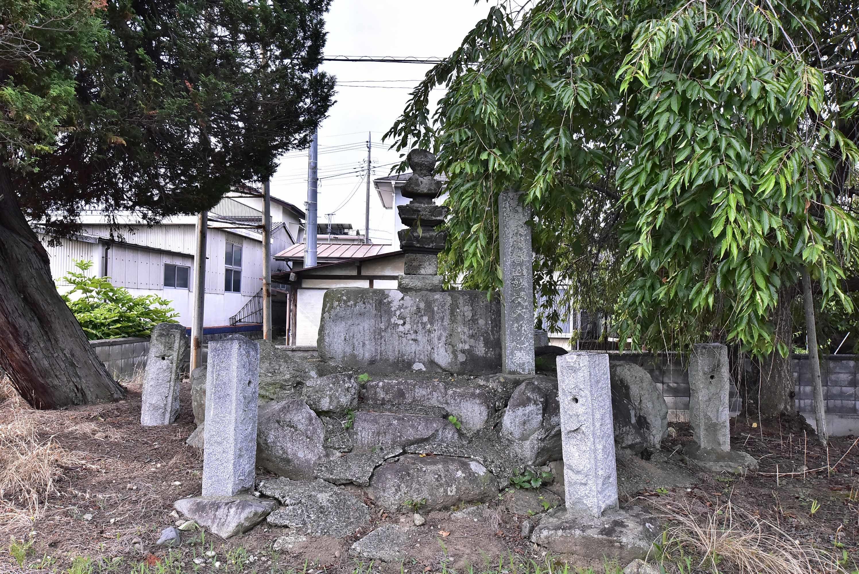 武田信成館 武田信成の墓