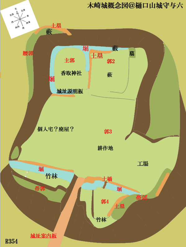 木崎城概念図@ヤマシロ