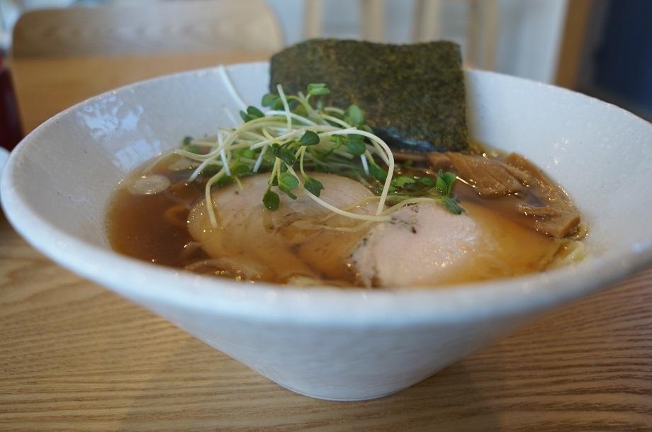 つけ麺らあ麺 まー麺@益子町 中華そば+宇都宮水餃子3ケ 進化したまー麺。