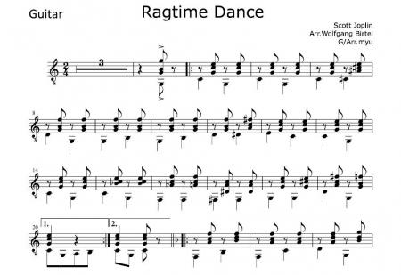 ラグタイムダンスG譜