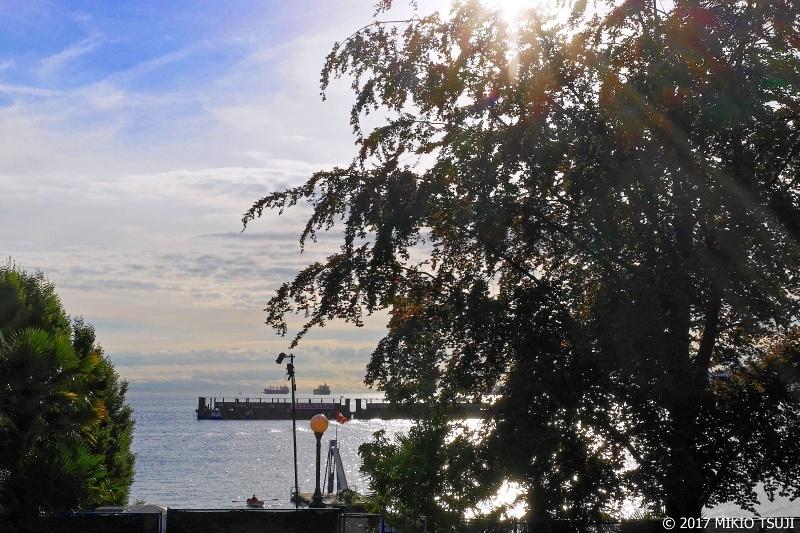 絶景探しの旅 - 0360 木陰からイングリッシュ湾を望む (カナダ バンクーバー)