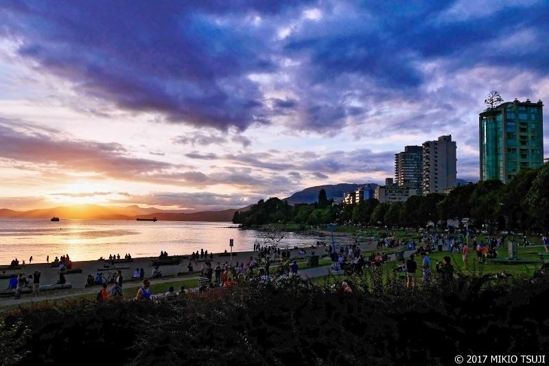 絶景探しの旅 - 0361 夕陽のイングリッシュベイビーチ (カナダ バンクーバー)